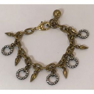VTG Lulu Frost Crystal & Spike Charm Bracelet